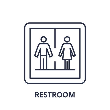 Restroom line icon concept. Restroom vector linear illustration, sign, symbol Ilustração