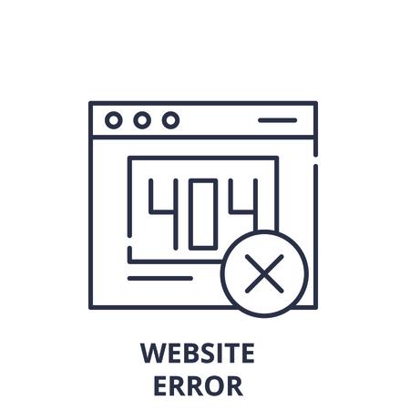 Website error line icon concept. Website error vector linear illustration, sign, symbol