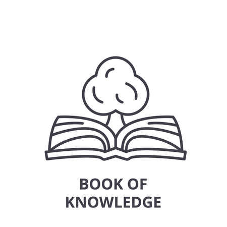 Book of knowledge line icon concept. Book of knowledge vector linear illustration, sign, symbol 向量圖像