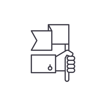 Advantage line icon concept. Advantage vector linear illustration, sign, symbol