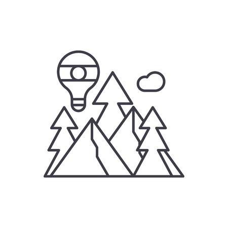 Adventure line icon concept. Adventure vector linear illustration, sign, symbol