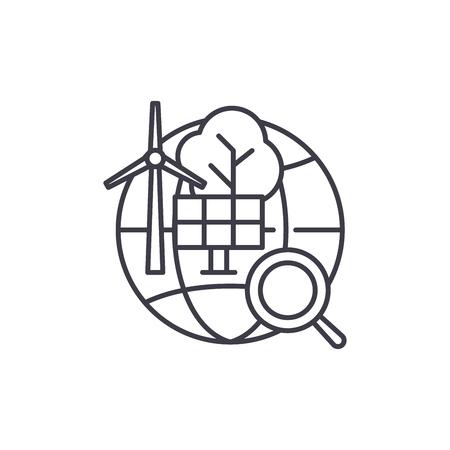 Alternative energy line icon concept. Alternative energy vector linear illustration, sign, symbol