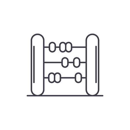 Abacus line icon concept. Abacus vector linear illustration, sign, symbol