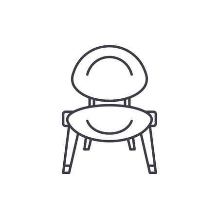 Baby chair line icon concept. Baby chair vector linear illustration, sign, symbol Ilustração