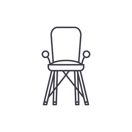 Baby chair in room line icon concept. Baby chair in room vector linear illustration, sign, symbol