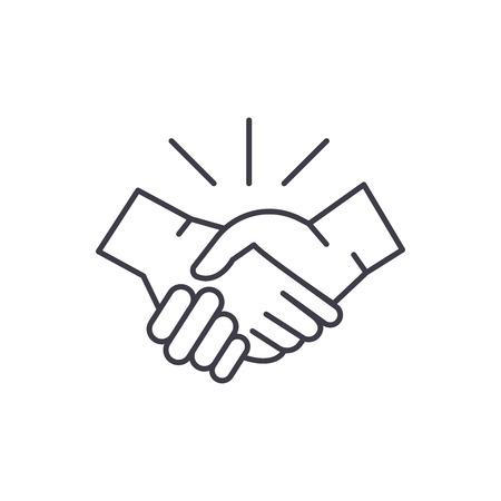 Arrangement line icon concept. Arrangement vector linear illustration, sign, symbol Illustration