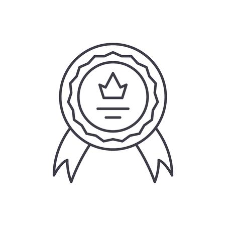 Achievement line icon concept. Achievement vector linear illustration, sign, symbol