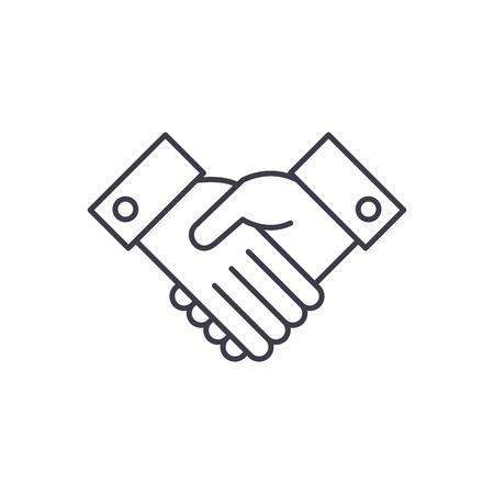 Acknowledge line icon concept. Acknowledge vector linear illustration, sign, symbol
