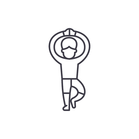 Ballet line icon concept. Ballet vector linear illustration, sign, symbol Illustration