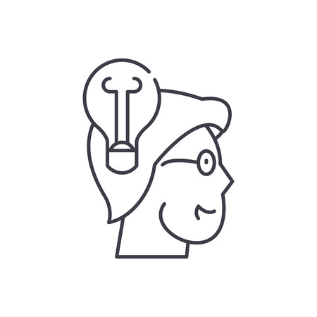 Awareness line icon concept. Awareness vector linear illustration, sign, symbol