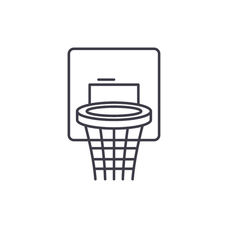 Basketball basket line icon concept. Basketball basket vector linear illustration, sign, symbol