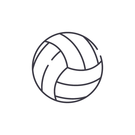 Basketball game line icon concept. Basketball game vector linear illustration, sign, symbol