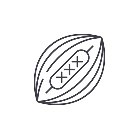 American football line icon concept. American football vector linear illustration, sign, symbol