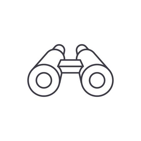 L'icône de la ligne des jumelles concept. Illustration linéaire vectorielle de jumelles, signe, symbole