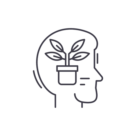 Balance and meditation line icon concept. Balance and meditation vector linear illustration, sign, symbol
