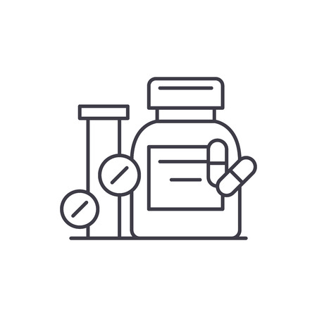 Biologically active additives line icon concept. Biologically active additives vector linear illustration, sign, symbol