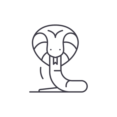 Boa line icon concept. Boa vector linear illustration, sign, symbol