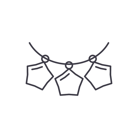 Beads garlands line icon concept. Beads garlands vector linear illustration, sign, symbol