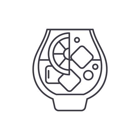 Brandy line icon concept. Brandy vector linear illustration, sign, symbol