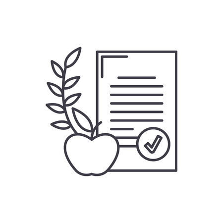 Balanced diet line icon concept. Balanced diet vector linear illustration, sign, symbol Stock fotó - 112406510