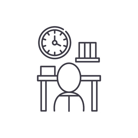 Bureaucracy line icon concept. Bureaucracy vector linear illustration, sign, symbol
