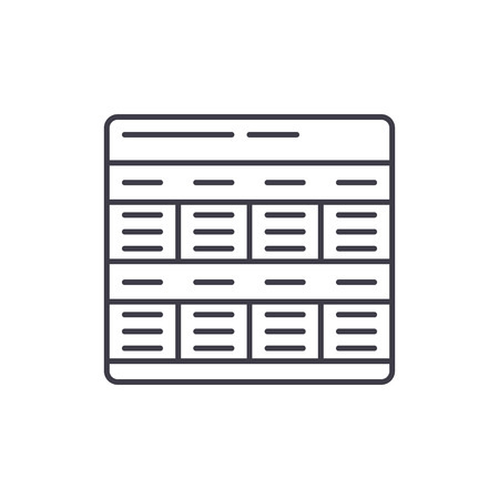 Business model line icon concept. Business model vector linear illustration, sign, symbol Иллюстрация