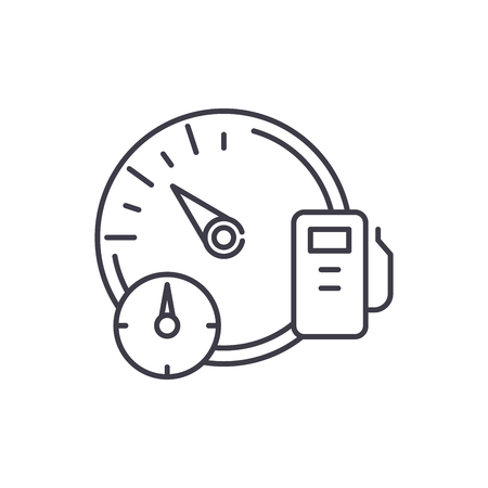 Business dashboard line icon concept. Business dashboard vector linear illustration, sign, symbol
