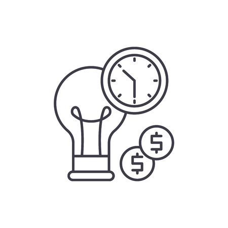 Business efficiency line icon concept. Business efficiency vector linear illustration, sign, symbol Illustration