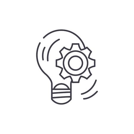 Business Kompetenz Symbol Leitung Konzept. Lineare Illustration des Geschäftskompetenzvektors, Zeichen, Symbol, Vektorgrafik