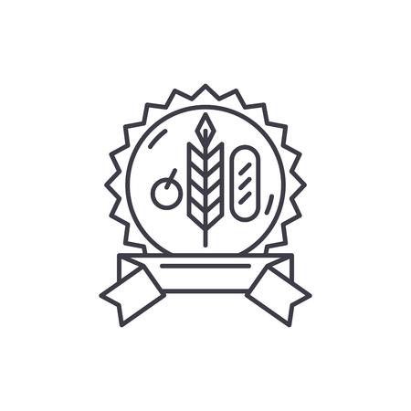Bio product line icon concept. Bio product vector linear illustration, sign, symbol