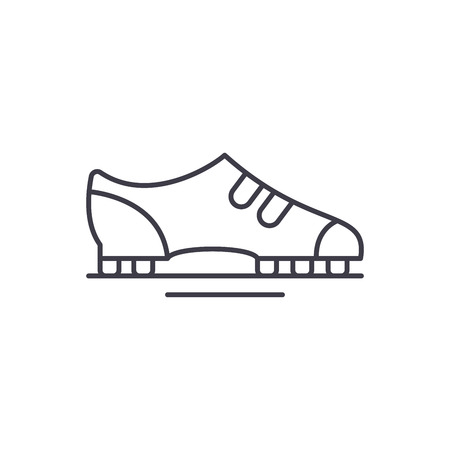 Boots line icon concept. Boots vector linear illustration, sign, symbol Illustration