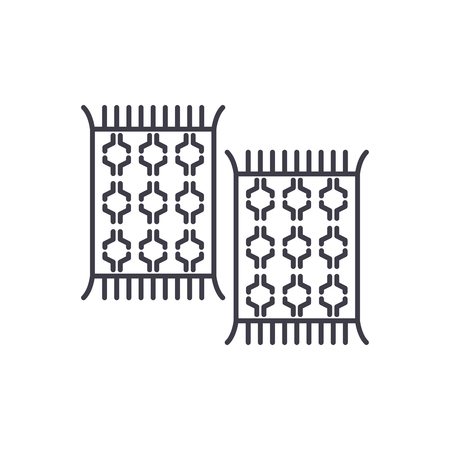 Carpets line icon concept. Carpets vector linear illustration, sign, symbol