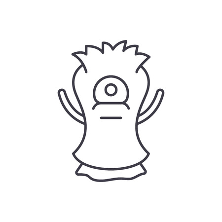 Cast line icon concept. Cast vector linear illustration, sign, symbol 版權商用圖片 - 127526840