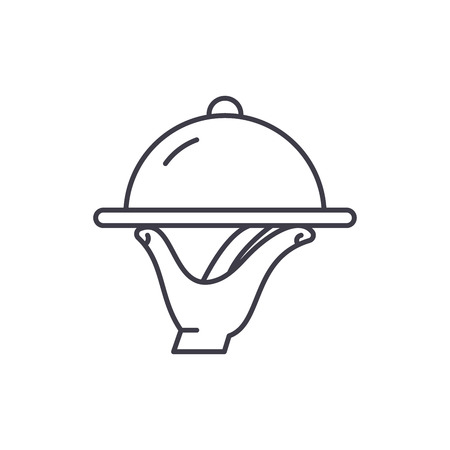 Catering line icon concept. Catering vector linear illustration, sign, symbol Illustration