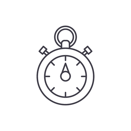 Chronoscope line icon concept. Chronoscope vector linear illustration, sign, symbol Ilustracja
