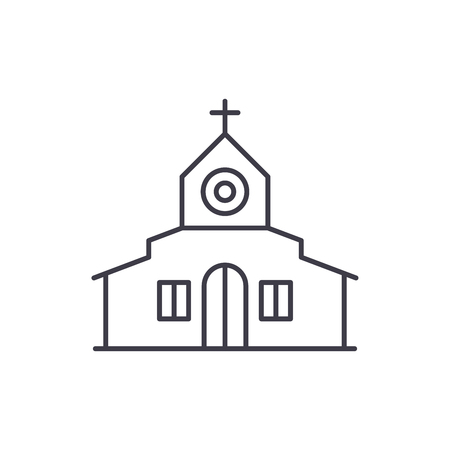 Church line icon concept. Church vector linear illustration, sign, symbol 向量圖像