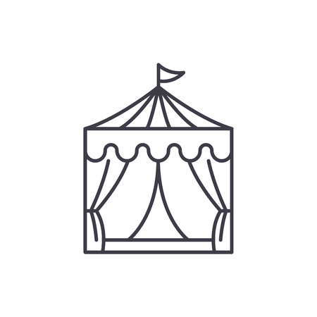 Circus line icon concept. Circus vector linear illustration, sign, symbol
