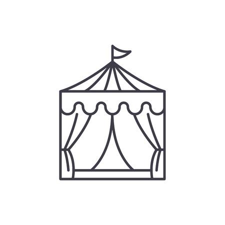 Circus line icon concept. Circus vector linear illustration, sign, symbol