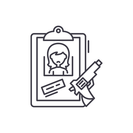 Clues line icon concept. Clues vector linear illustration, sign, symbol 向量圖像