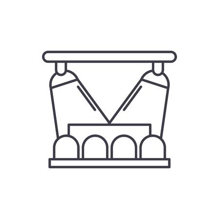 Concert show line icon concept. Concert show vector linear illustration, sign, symbol