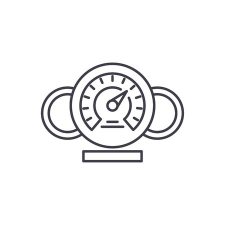 Dashboard line icon concept. Dashboard vector linear illustration, sign, symbol Stockfoto - 127493486