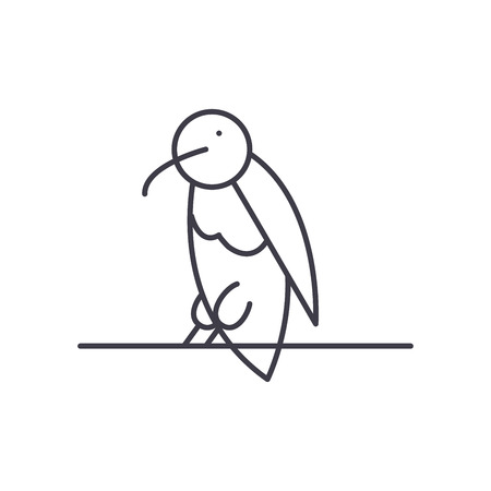 Dead end line icon concept. Dead end vector linear illustration, sign, symbol Illustration
