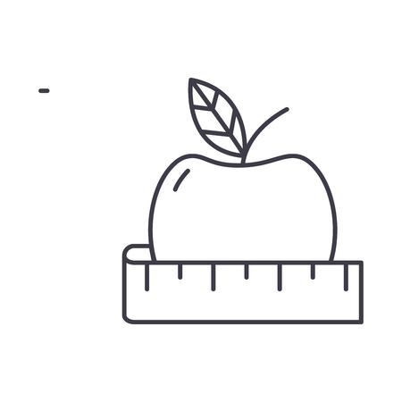 Diet line icon concept. Diet vector linear illustration, sign, symbol Archivio Fotografico - 127493503