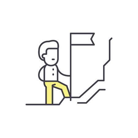 Discoverer line icon concept. Discoverer vector linear illustration, sign, symbol Foto de archivo - 112414527