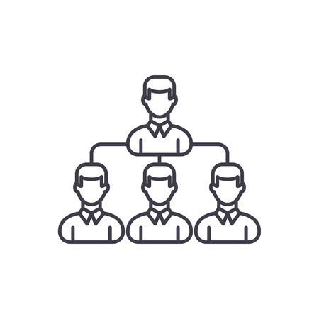 Dream team line icon concept. Dream team vector linear illustration, sign, symbol