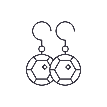 Earring line icon concept. Earring vector linear illustration, sign, symbol