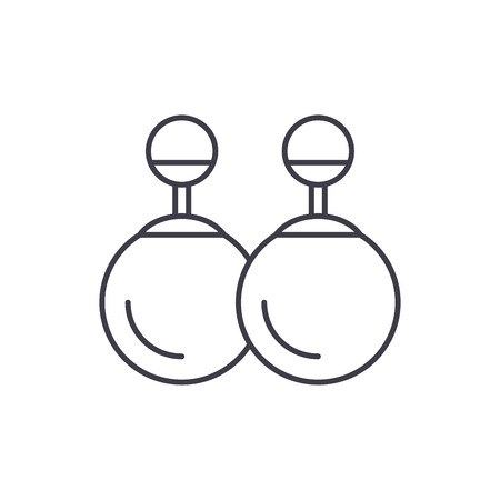 Earrings line icon concept. Earrings vector linear illustration, sign, symbol