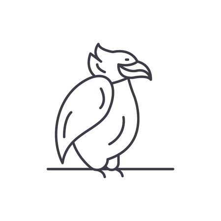 Emperor penguin line icon concept. Emperor penguin vector linear illustration, sign, symbol