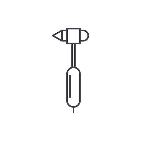 Endoscope line icon concept. Endoscope vector linear illustration, sign, symbol
