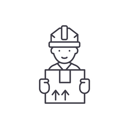 Express delivery line icon concept. Express delivery vector linear illustration, sign, symbol Illustration